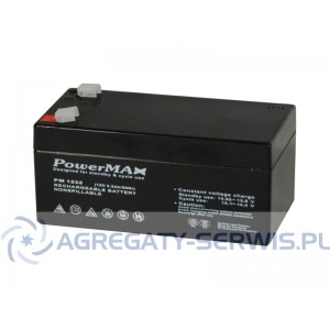 PM 1232 PowerMAX Akumulator VRLA 12V 3,2Ah